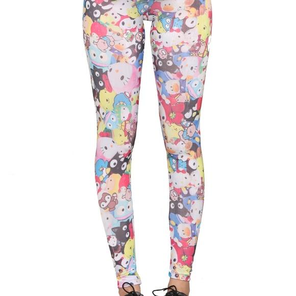 51bfa55e9 Doe Pants | Hello Kitty Friends By Sanrio Leggings Medium | Poshmark